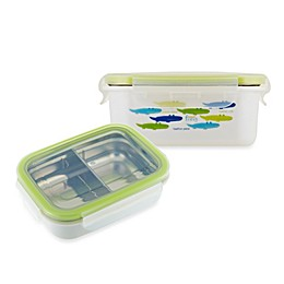 Innobaby Keepin' Fresh™ Double-Lined Stainless Bento LunchBox in Alligator/Green