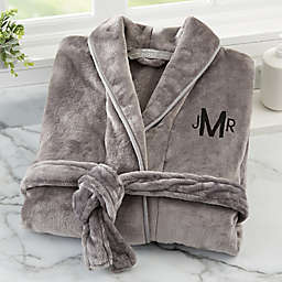 Brookstone® n-a-p® Small/Medium Robe in Dark Grey