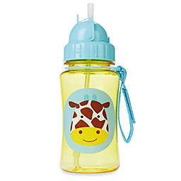 SKIP*HOP® Zoo 12-Ounce Giraffe Straw Bottle