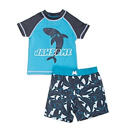 Freestyle Revolution 2-Piece Jawsome Rashguard and Swim Trunk Set