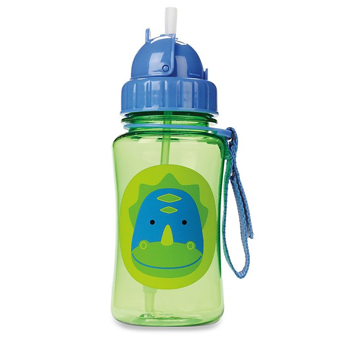 Alternate image 1 for SKIP*HOP® Zoo 12-Ounce Dino Straw Bottle