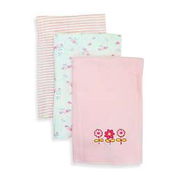 SpaSilk® Flowers 3-Pack Burp Cloths