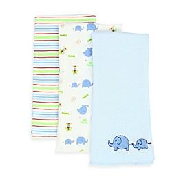 SpaSilk® Elephant 3-Pack Burp Cloths in Blue