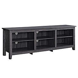 Forest Gate Asher Traditional Wood TV Stand in Charcoal