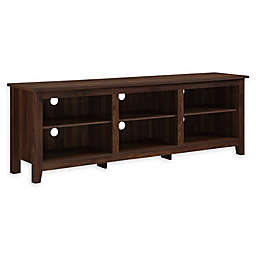 Forest Gate 70-Inch Asher Traditional Wood TV Stand in Dark Walnut