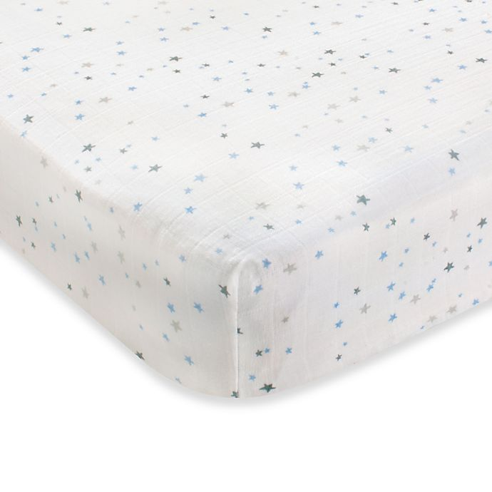 Alternate image 1 for aden + anais® 100% Cotton Muslin Crib Sheet in Night Sky