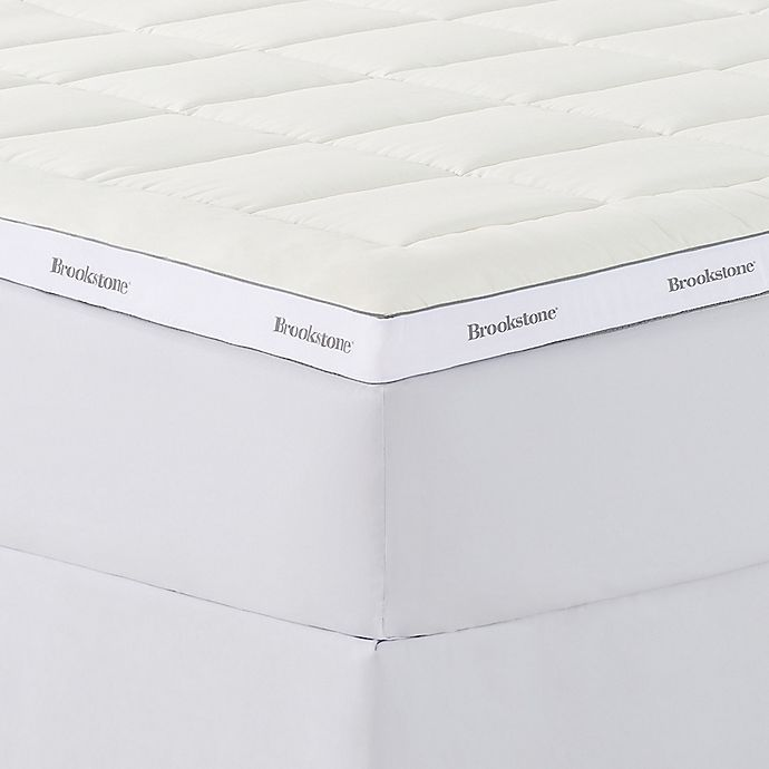 Alternate image 1 for Brookstone® BioSense™ 3-Inch Foam Reversible Twin Mattress Topper in White