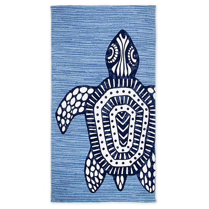 Alternate image 1 for Seaqual™ Tribal Turtle Beach Towel in Blue