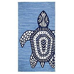 Seaqual™ Tribal Turtle Beach Towel in Blue