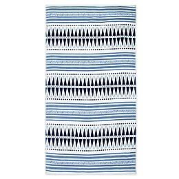 Seaqual™ Yoga Blanket Beach Towel in Blue/White