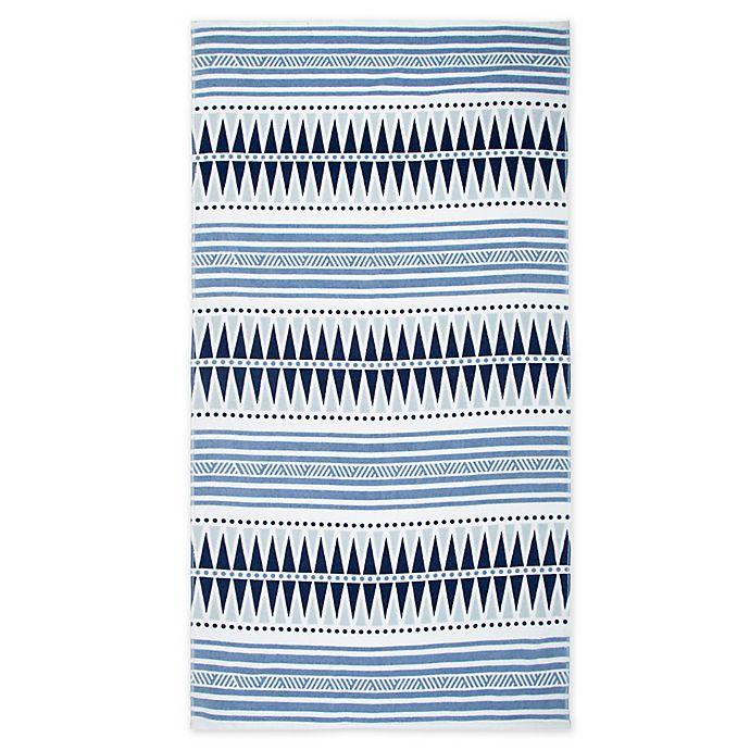 Alternate image 1 for Seaqual™ Yoga Blanket Beach Towel in Blue/White