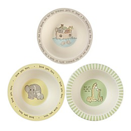 Precious Moments® Noah's Ark Animals 3-Pack Bowl Set