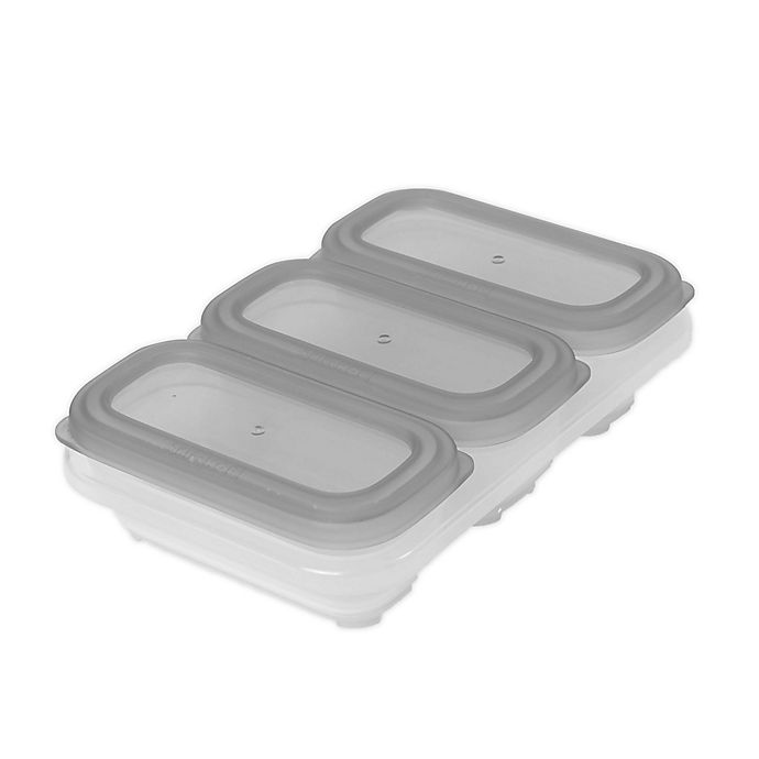 Alternate image 1 for SKIP*HOP® Easy-Store 4-Piece 4 oz. Containers and Tray Set in Grey