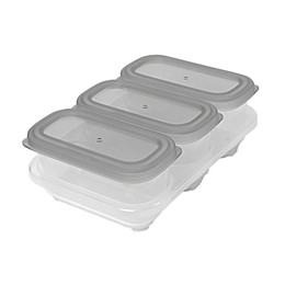 SKIP*HOP® Easy-Store 4-Piece 6 oz. Containers and Tray Set in Grey