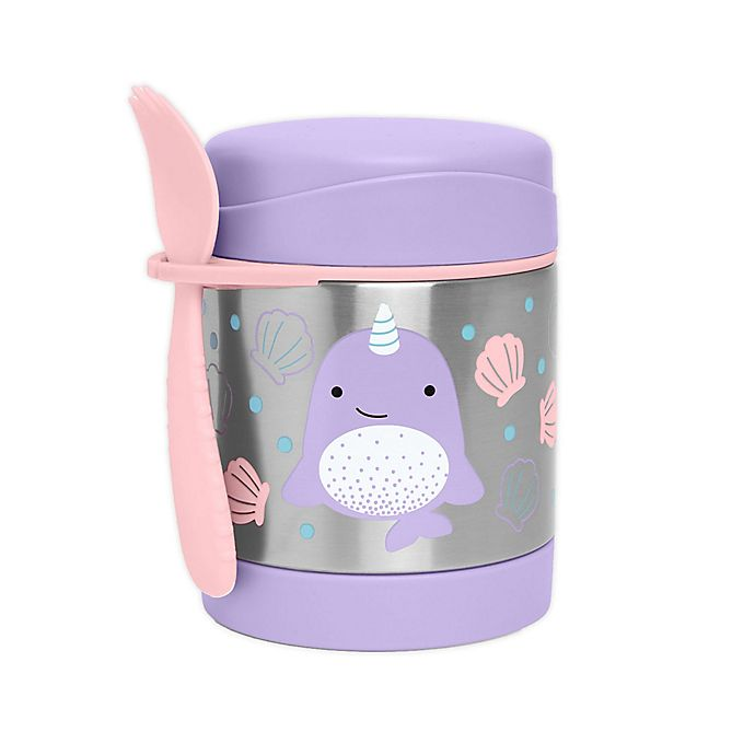 Alternate image 1 for SKIP*HOP® Zoo Narwhal 11 oz. Insulated Food Jar