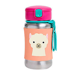 SKIP*HOP® Zoo Llama 12 oz. Stainless Steel Straw Bottle