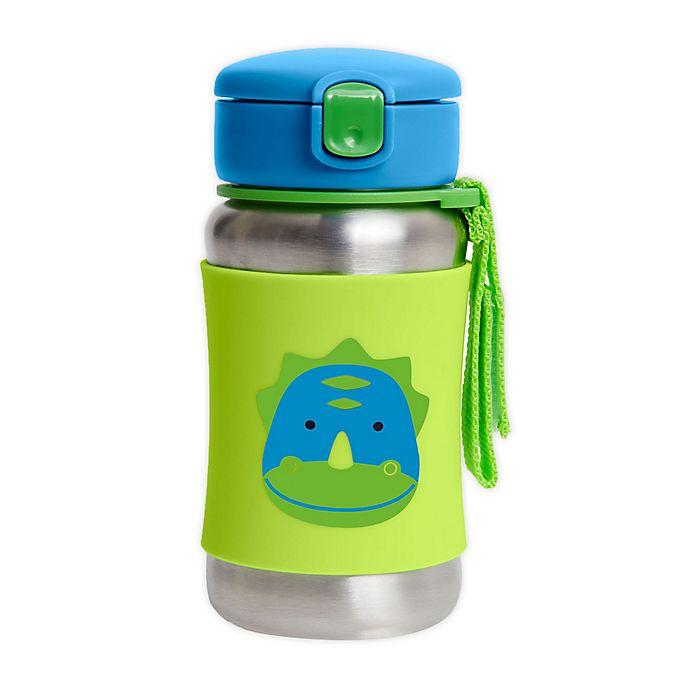 Alternate image 1 for SKIP*HOP® Zoo Dino 12 oz. Stainless Steel Straw Bottle