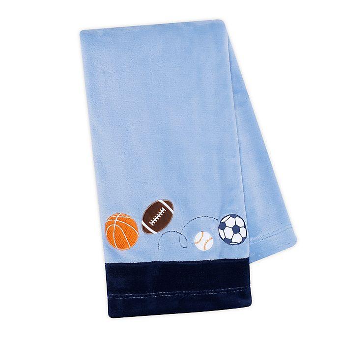 Alternate image 1 for Lambs & Ivy® Sports Fan Baby Blanket in Blue