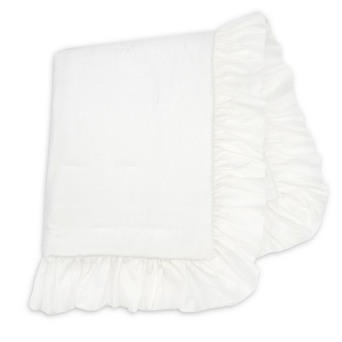 Alternate image 1 for Lambs & Ivy® Signature Separates Ruffle Quilt in White