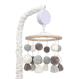 Lambs & Ivy® Signature Separates Pom Pom Musical Mobile in White
