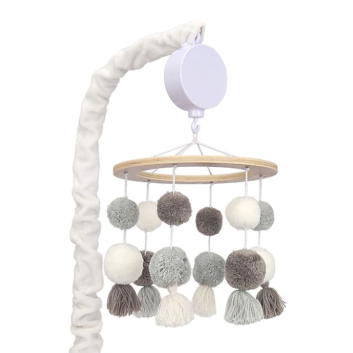 Alternate image 1 for Lambs & Ivy® Signature Separates Pom Pom Musical Mobile in White