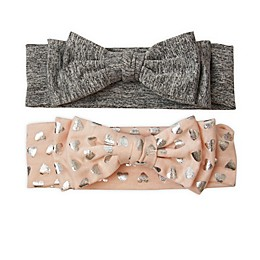 Tiny Treasures 2-Pack Headbands in Pink/Grey