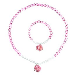 Tiny Treasures Rose Necklace in Pink