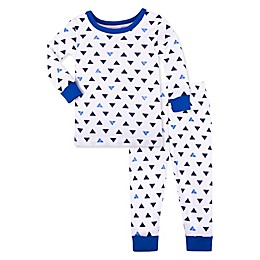 Lamaze® 2-Pack Triangle Organic Cotton Toddler Sleep 'N Play Footies in Blue