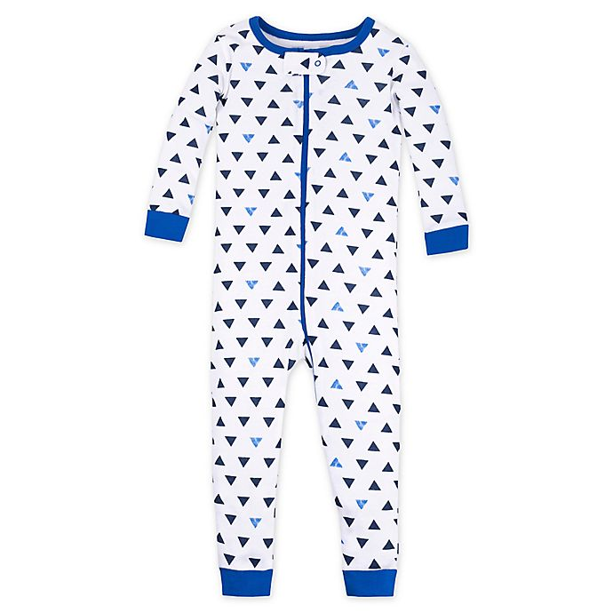 Alternate image 1 for Lamaze® Triangle Organic Cotton Toddler Sleep 'N Play Coverall in Blue