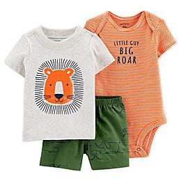 carter's® 3-Piece Lion Shirt, Bodysuit, and Short Set