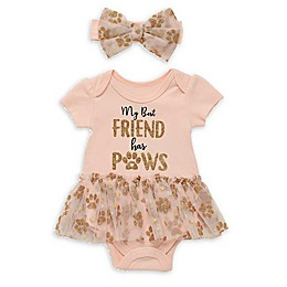 Baby Starters® 2-Piece My Best Friend Bodysuit and Headband Set in Blush