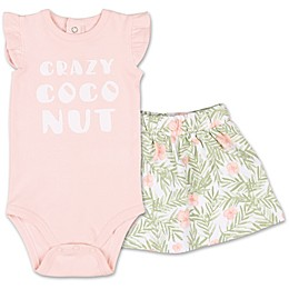 The Peanutshell™ 2-Piece Tropical Girl Bodysuit and Skirt Set