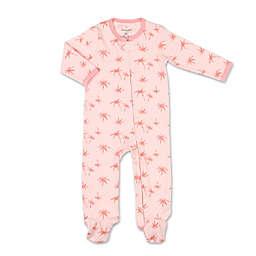 The Peanutshell™ Newborn Tropical Girl Palm Footie in Pink