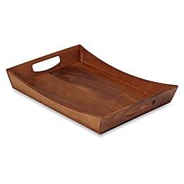 B. Smith® Rectangular Acacia Wood Tray with Handles