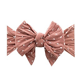 Baby Bling One Size Dang-Enormous-Bow Rose Gold Dot Knot Headband