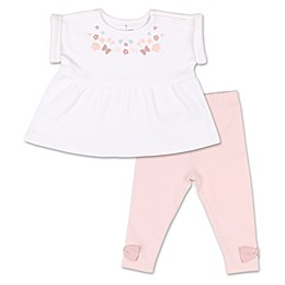 The Peanutshell® Tiny Blooms 2-Piece Floral Tunic Shirt and Pant Set