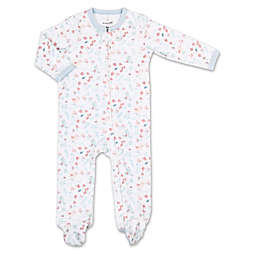 The Peanutshell® Tiny Blooms Birds and Blooms Footie in Blue