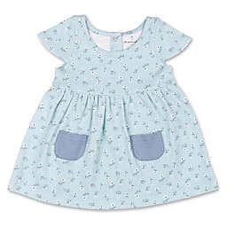 The Peanutshell® Tiny Blooms Newborn Floral Dress in Blue