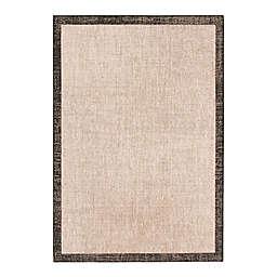 "ECARPET GALLERY 5'3"" x 7'7"" Woven Area Rug in Silver/Black"