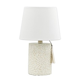 Bee & Willow™ Home Delilah Table Lamp with Tassel Chain in White