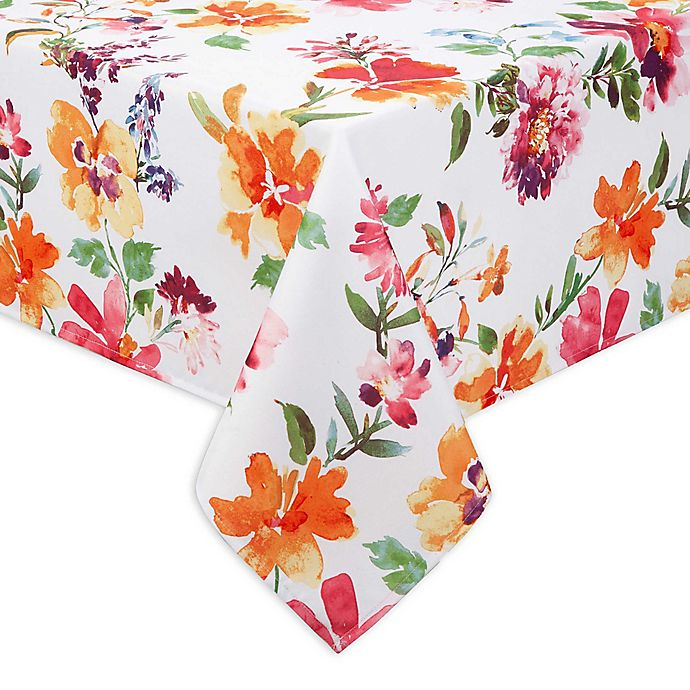 Alternate image 1 for Bright Blooms Indoor/Outdoor Table Linen Collection