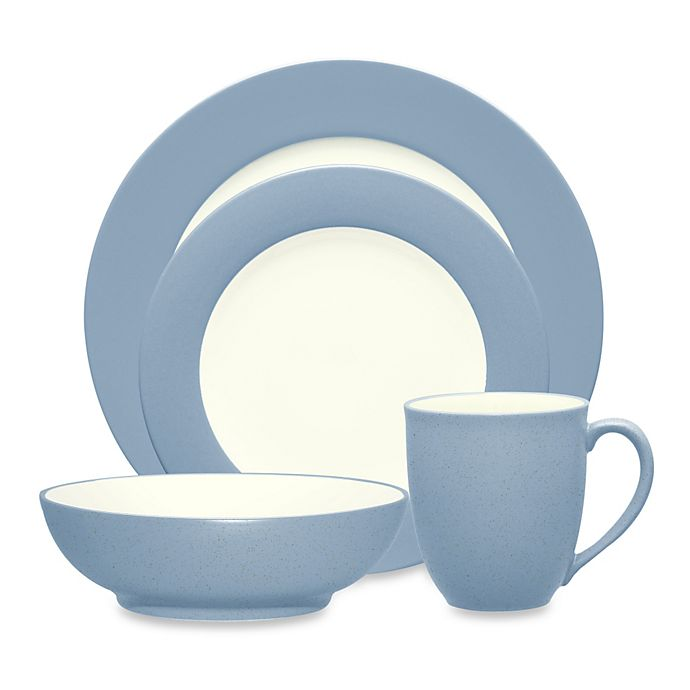 Alternate image 1 for Noritake® Colorwave Rim Dinnerware Collection in Ice