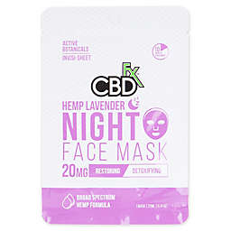 CBDfx™ 20mg CBD Hemp Lavendar Night Time Face Mask