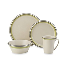 Mikasa® Concord Banded Green 4-Piece Place Setting