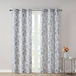 SALT® Gabriella 2-Pack 108-Inch Grommet Light Filtering Window Curtain Panels in Grey