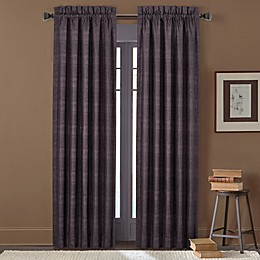 J. Queen New York™ Mesa 2-Pack 84-Inch Rod Pocket Window Curtain Panels in Chocolate