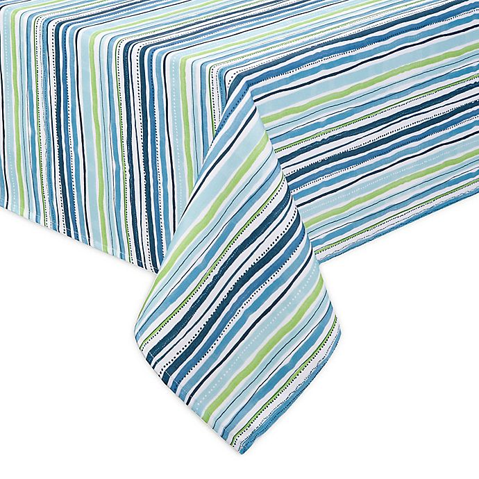 Alternate image 1 for Cool Summer Stripe Indoor/Outdoor Table Linen Collection