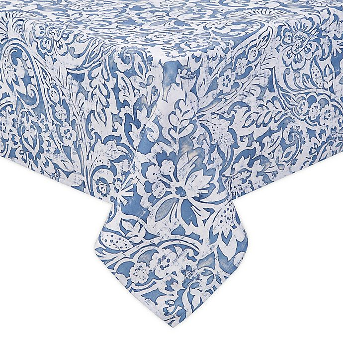 Alternate image 1 for Paisley Scroll Indoor/Outdoor Tablecloth