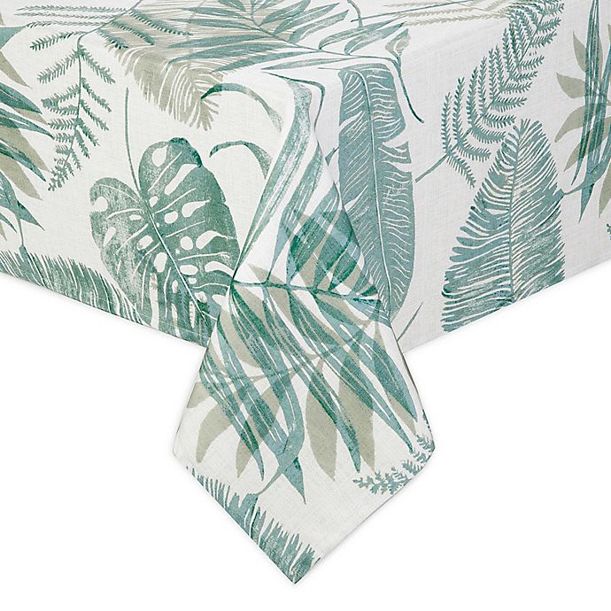 Alternate image 1 for Tranquil Palm Indoor/Outdoor Table Linen Collection
