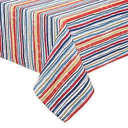 Warm Summer Stripes Indoor/Outdoor Table Linen Collection